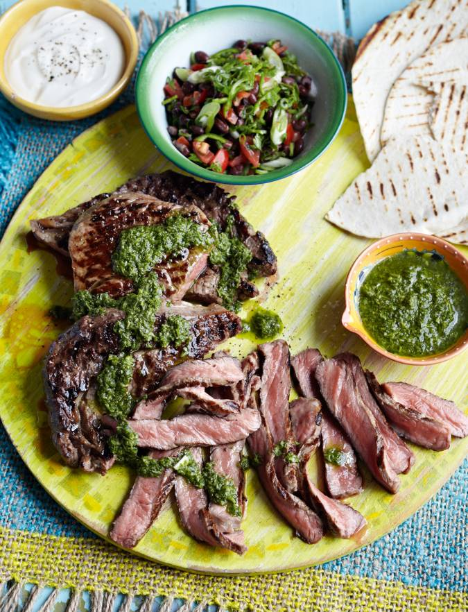Recipe: Ribeye steaks with chimichurri sauce