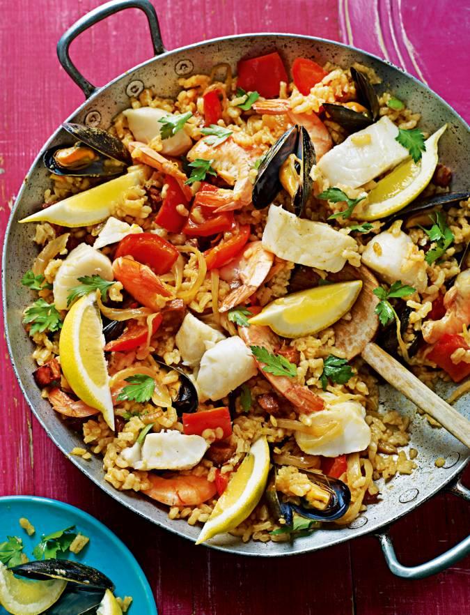 Recipe: Seafood and chorizo paella