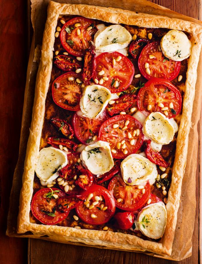 Recipe: Tomato and goats' cheese tart