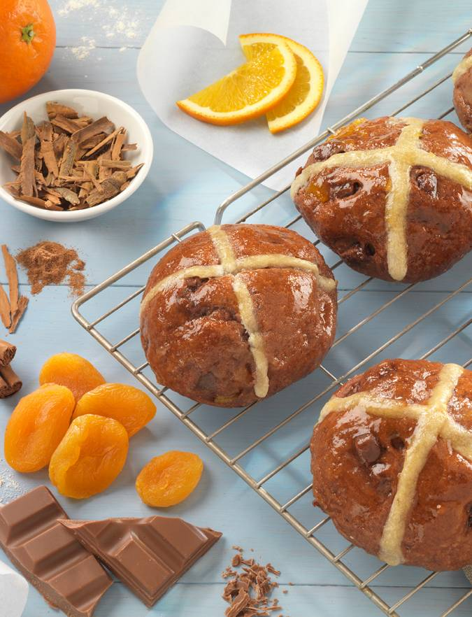 Recipe: Spiced chocolate and orange hot cross buns
