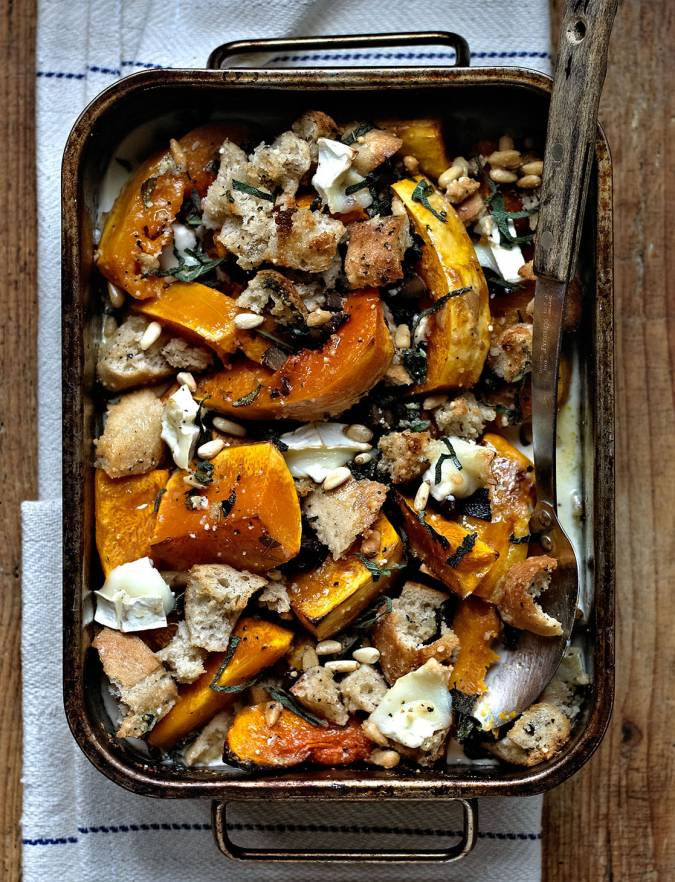 Recipe: Butternut squash and goats' cheese crumble