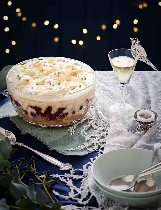 Recipe: Boozy raspberry lemon trifle