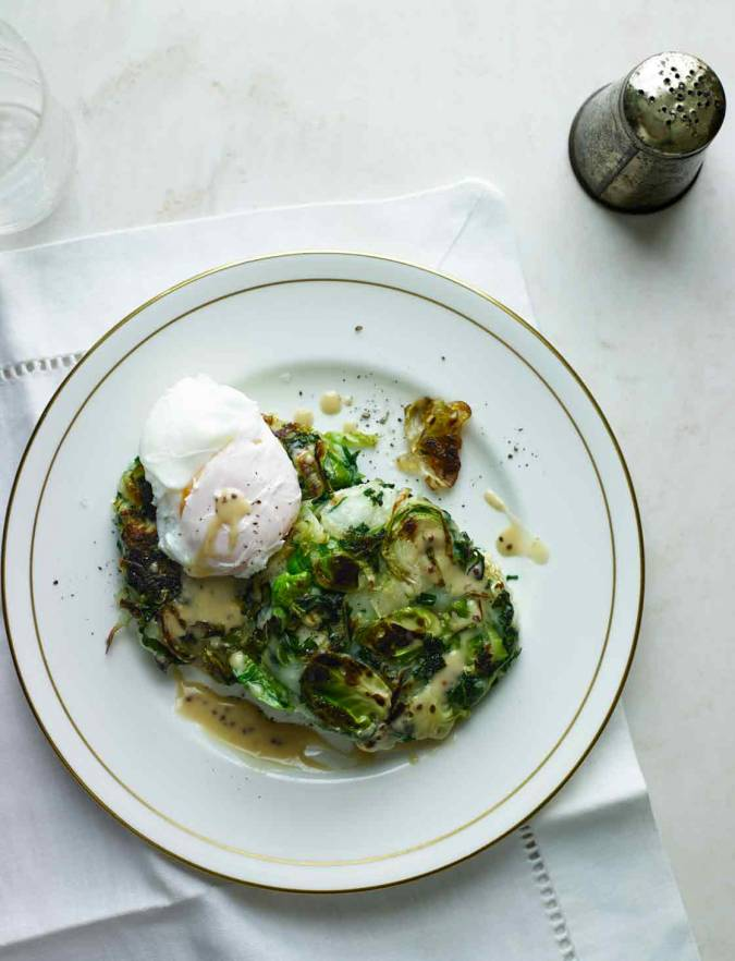 Recipe: Bubble and squeak cakes with poached eggs and mustard sauce