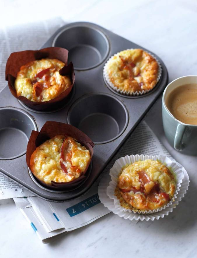 Recipe: Pancetta, cheddar and tomato muffins
