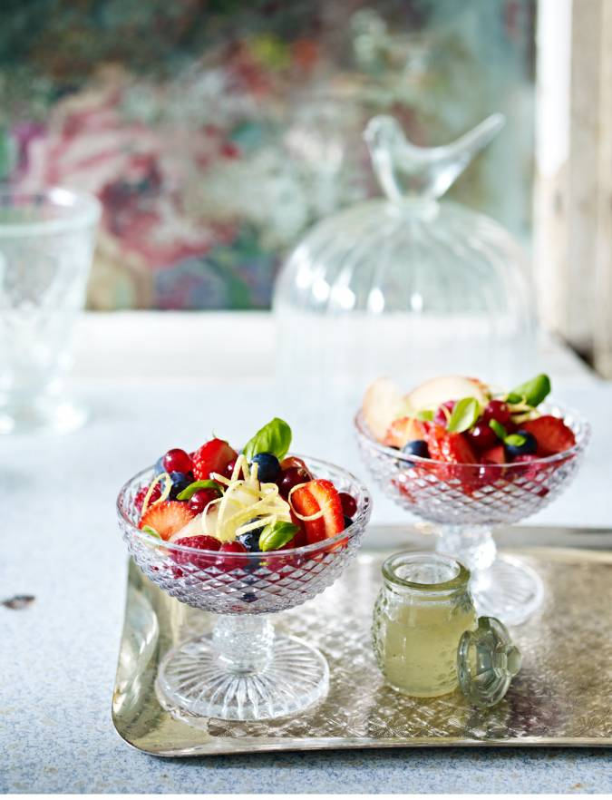 Recipe: Basil and lemon summer berry salad
