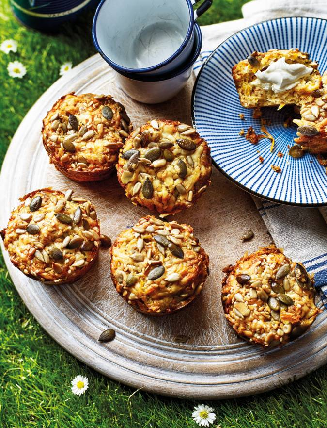 Recipe: Cheesy flaxseed and carrot muffins