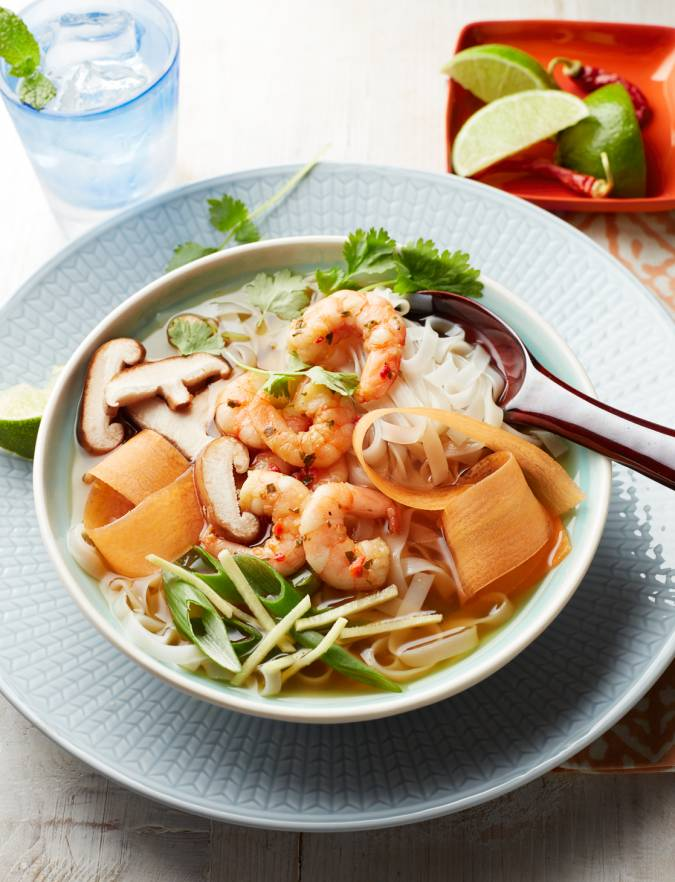 Recipe: Miso soup bowl with prawns