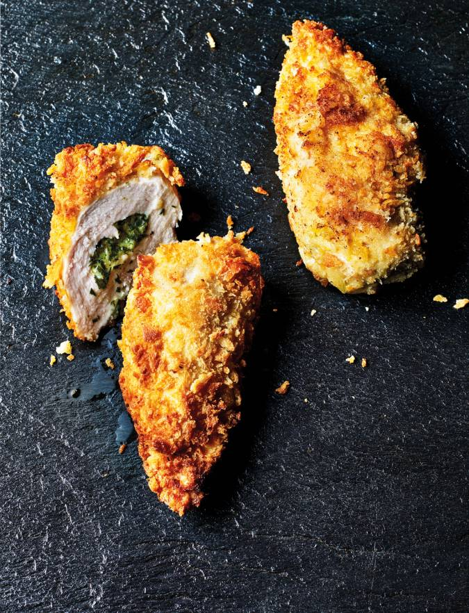 Recipe: Tarragon and goats' cheese chicken kiev