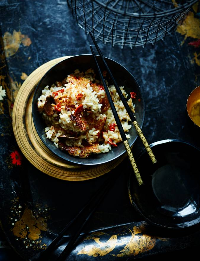 Recipe: Scorched mushroom and ginger rice