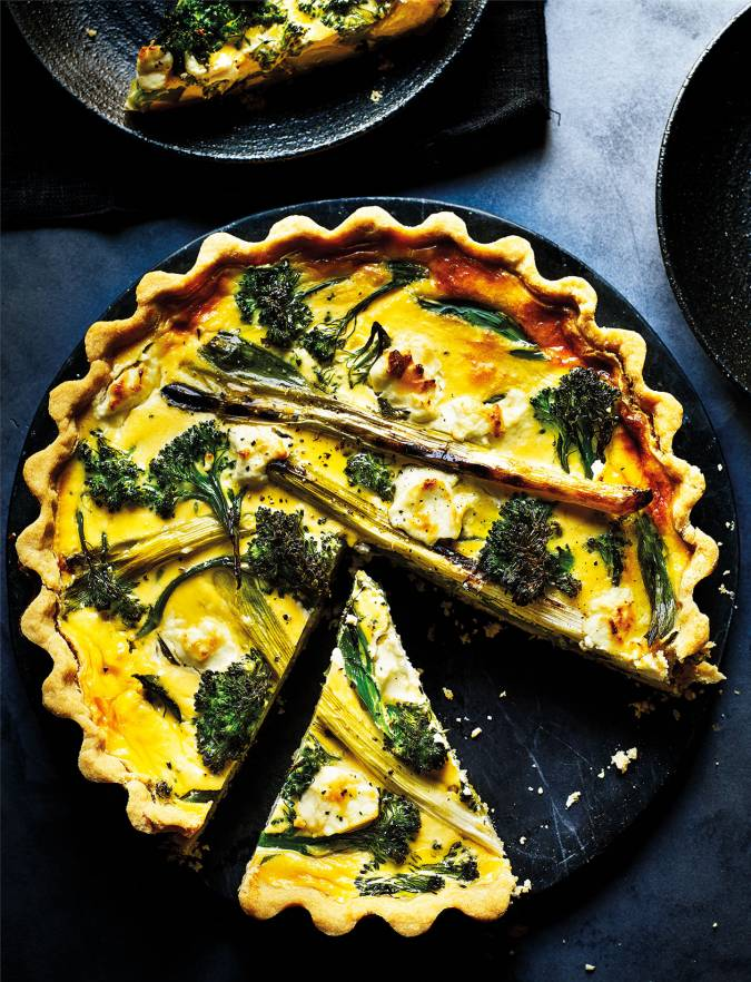 Recipe: Tenderstem and goats' cheese quiche