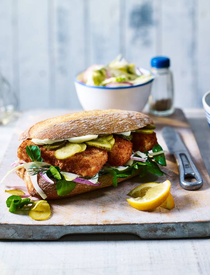 Recipe: Fish finger sarnies with fennel slaw