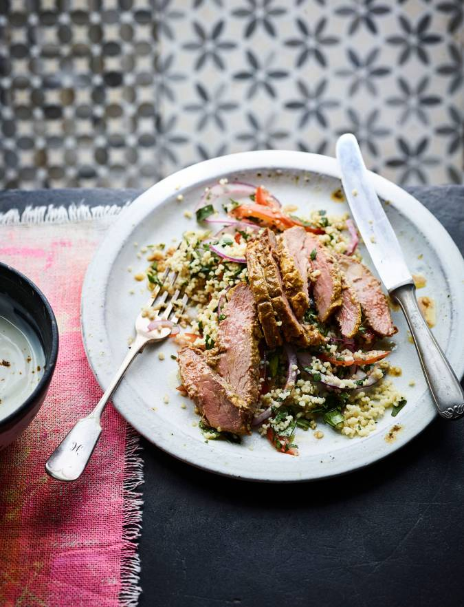 Recipe: Spiced duck breast with couscous salad
