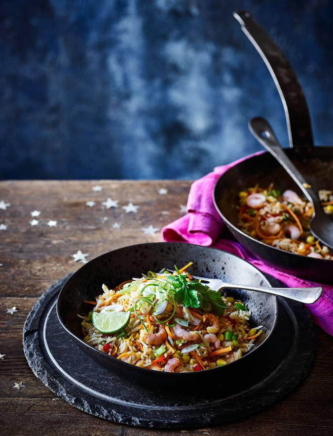 Recipe: Fridge-forage Tex-Mex rice with prawns