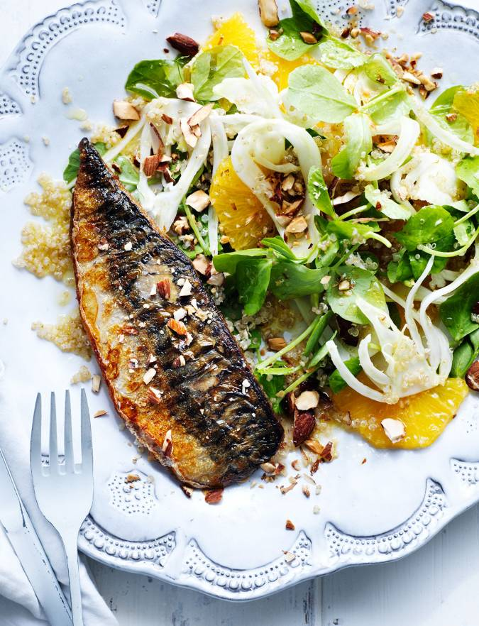 Recipe: Mackerel with fennel and orange salad