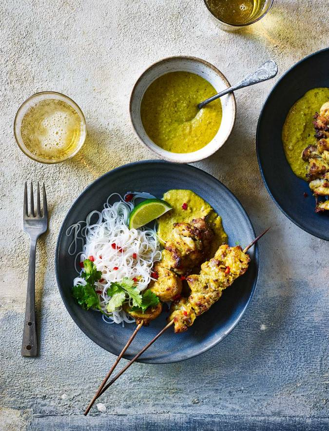 Recipe: Chicken satay with noodles