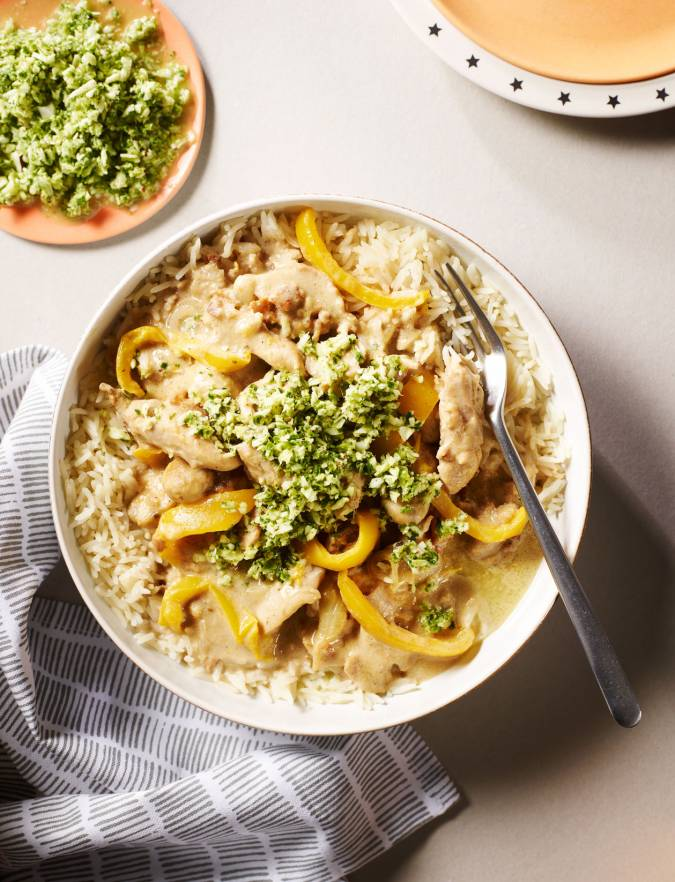 Recipe: Coconut chicken curry with Thai-style pesto