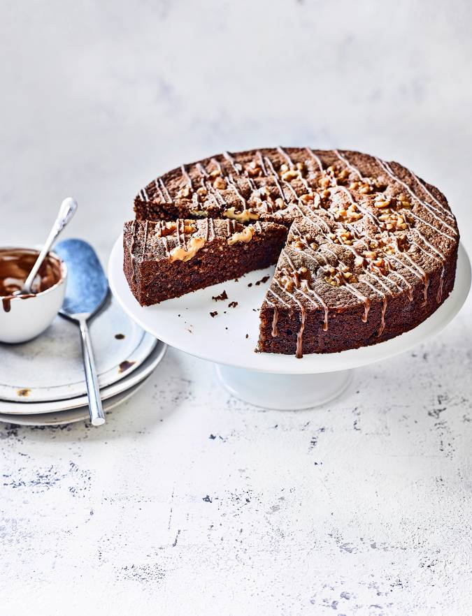Recipe: Swiss chocolate & walnut cake
