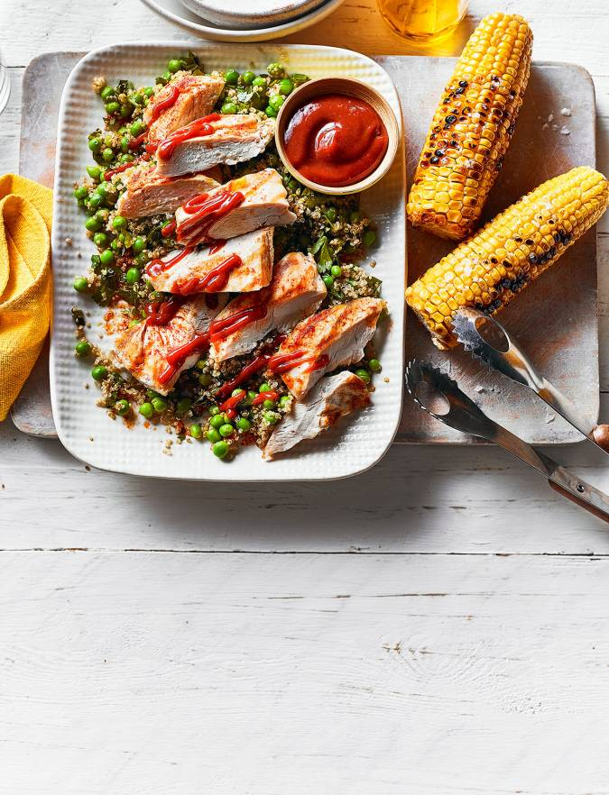 Recipe: BBQ chicken and quinoa with corn