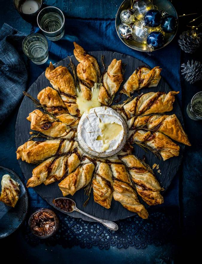 Recipe: Baked Camembert puff pastry star