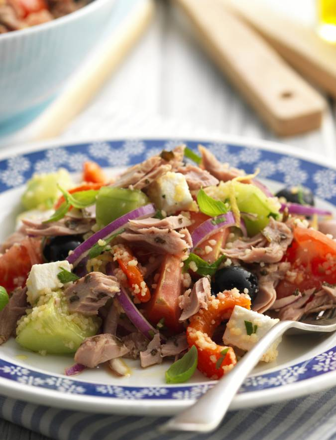 Recipe: John West tuna and basil Greek-style salad