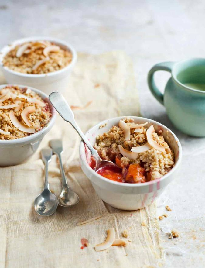 Recipe: Apricot and coconut crumbles