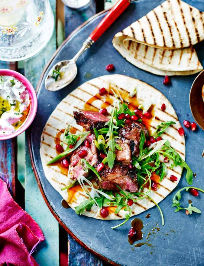 Recipe: Persian spiced lamb wraps