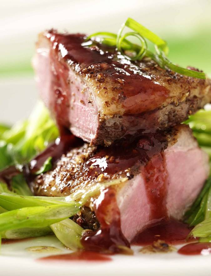Recipe: Crispy duck breast with plum star anise sauce