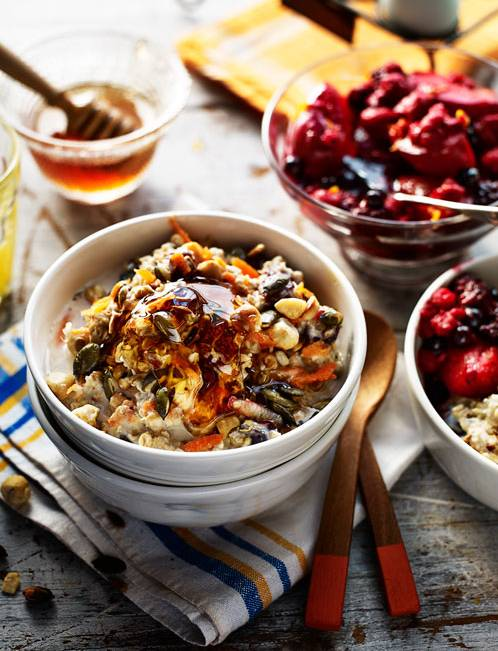 Recipe: Bircher-style muesli with ruby red fruit