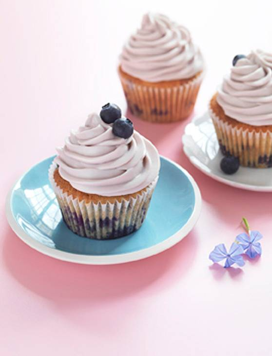 Recipe: Blueberry cheesecake cupcakes