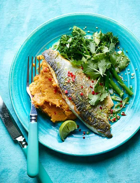 Recipe: Pan-fried lime and ginger sea bass