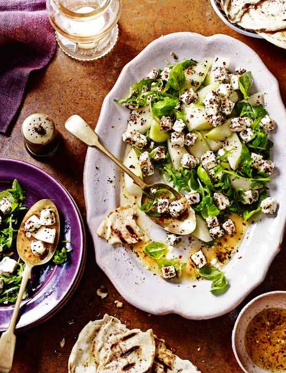 Recipe: Melon and marinated feta salad