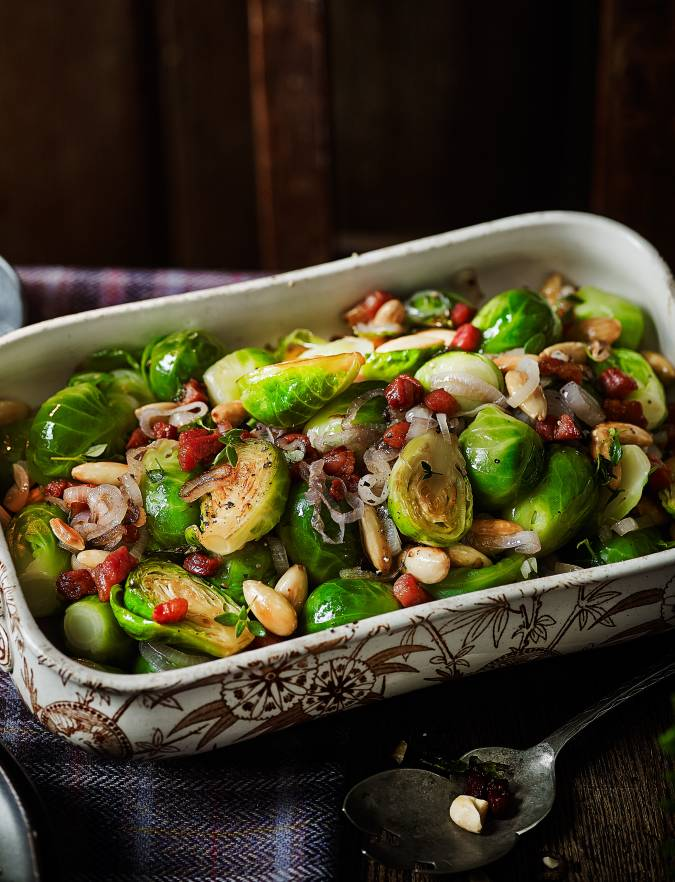 Recipe: Sprouts with almonds and pancetta