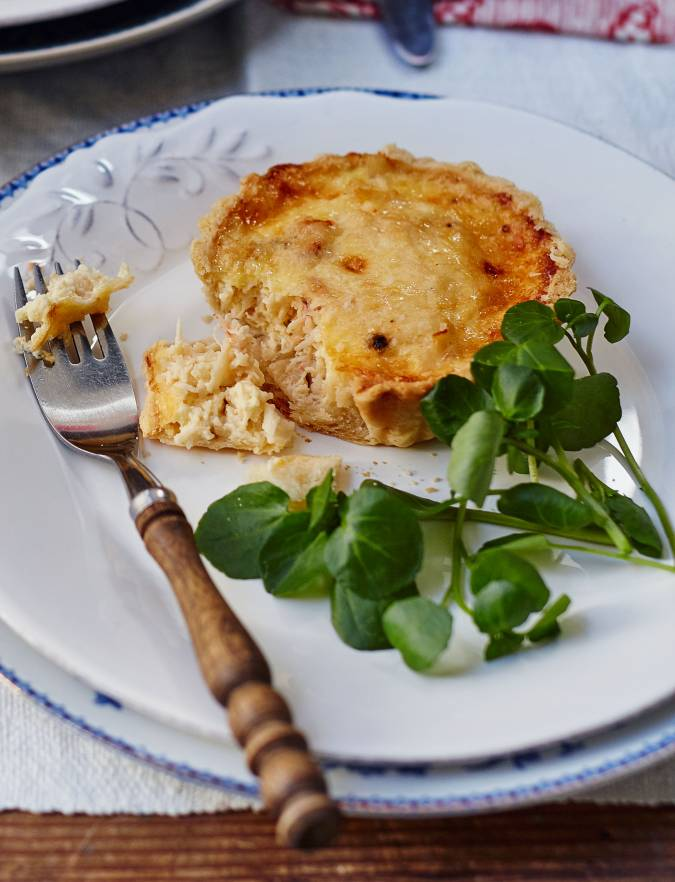 Recipe: Deep-filled crab, saffron and Parmesan tartlets