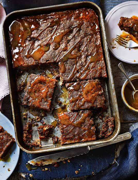 Recipe: Sticky toffee pudding traybake