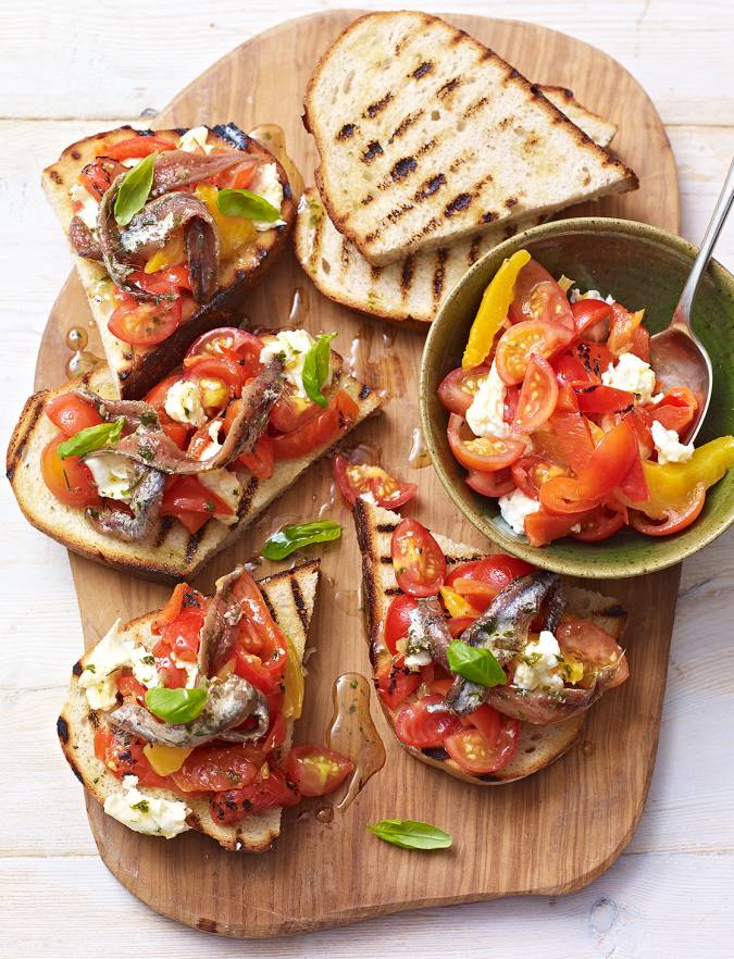 Recipe: Anchovy and tomato bruschetta
