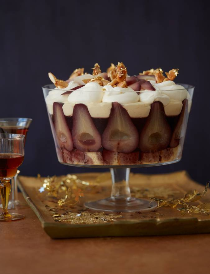 Recipe: Mulled wine pear trifle