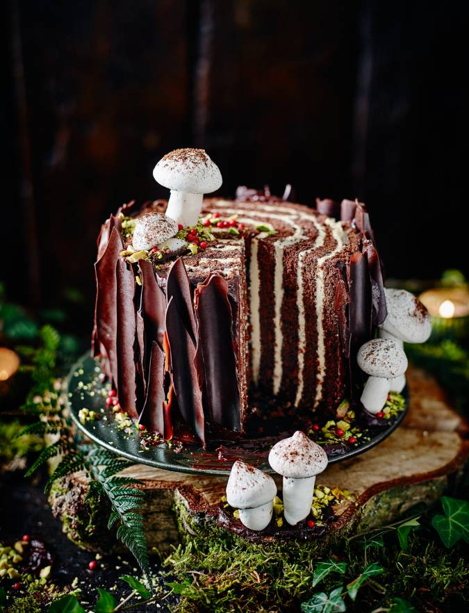 Recipe: Tree stump cake