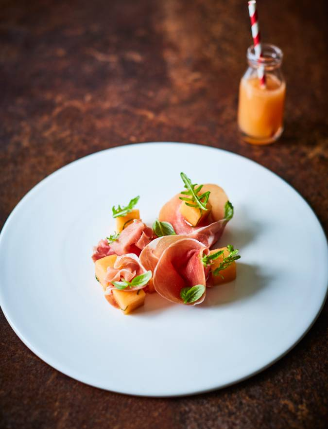 Recipe: Serrano ham and basil-infused melon