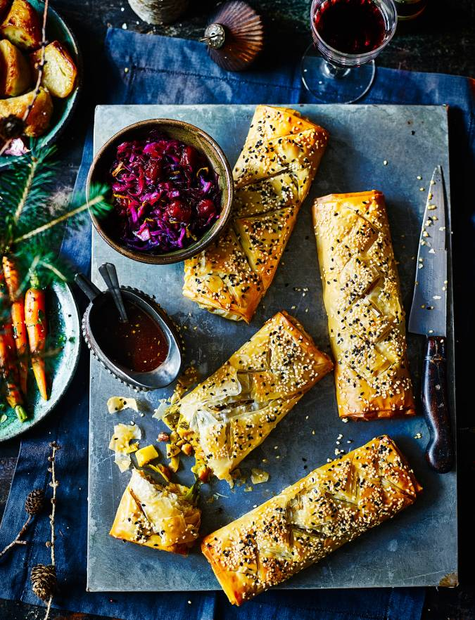 Recipe: Spiced parsnip and cashew strudels