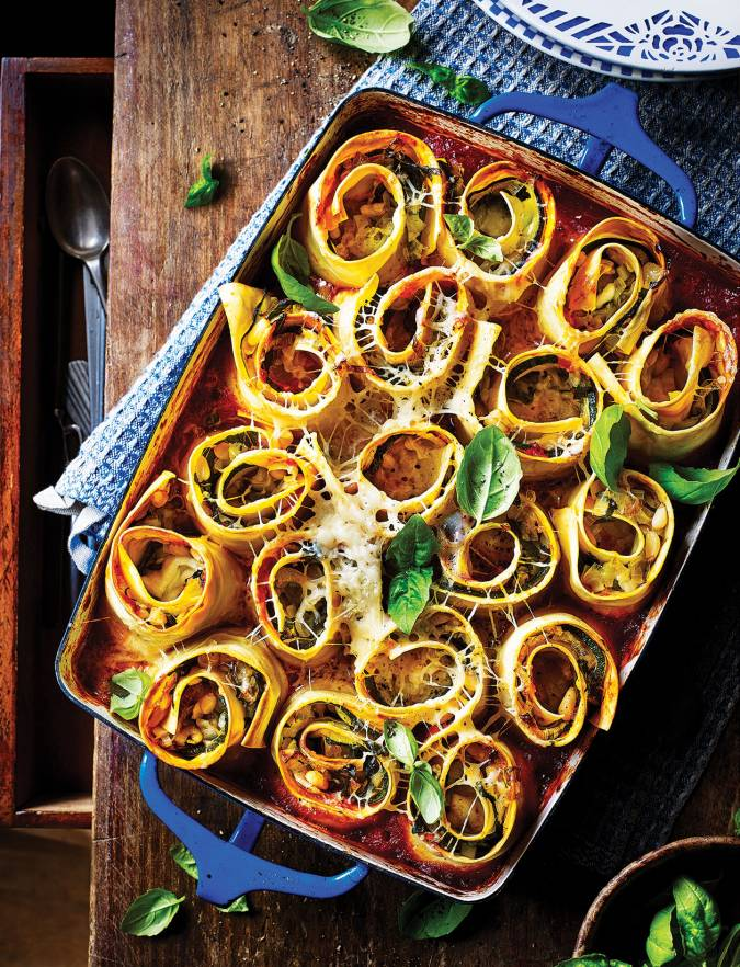 Recipe: Cheesy veggie lasagne rolls