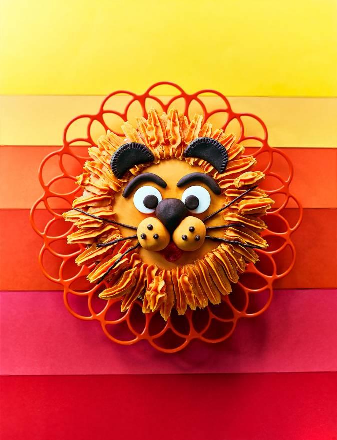 Fantastic Golden Lion Cake Recipe Sainsburys Magazine Funny Birthday Cards Online Hetedamsfinfo
