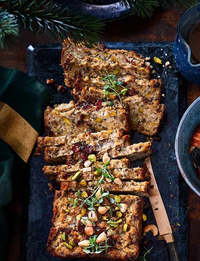 Recipe: Cashew and pistachio stuffing nut roast