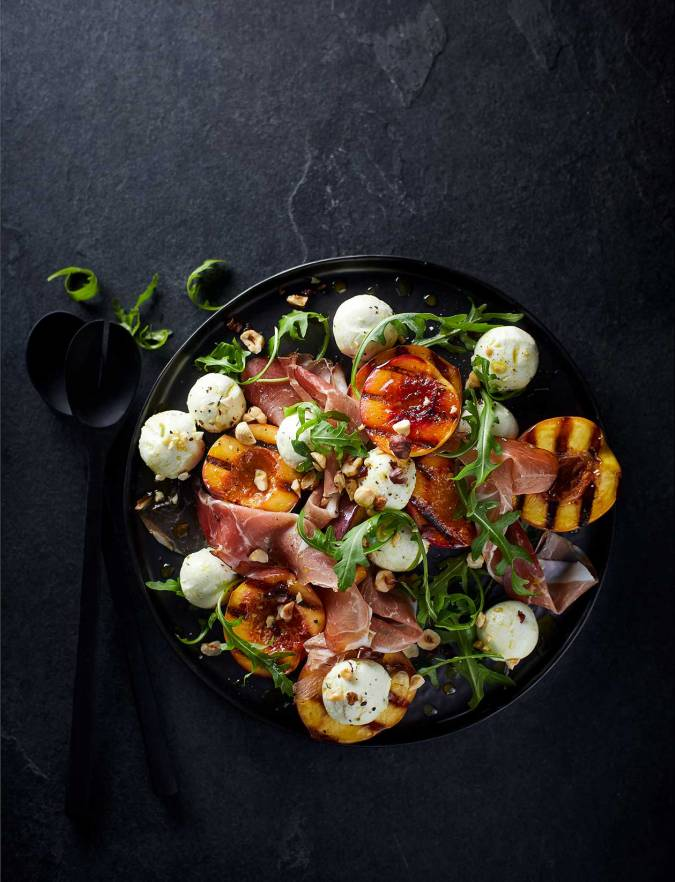 Recipe: Goats' cheese, nectarine and prosciutto salad