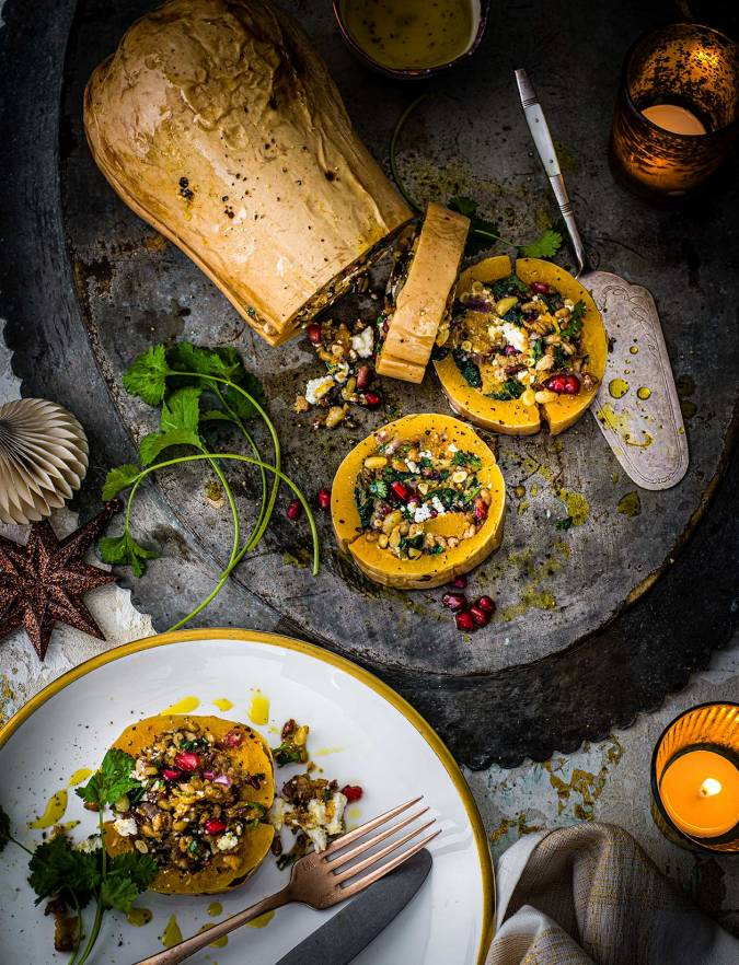 Recipe: Jewelled stuffed butternut squash