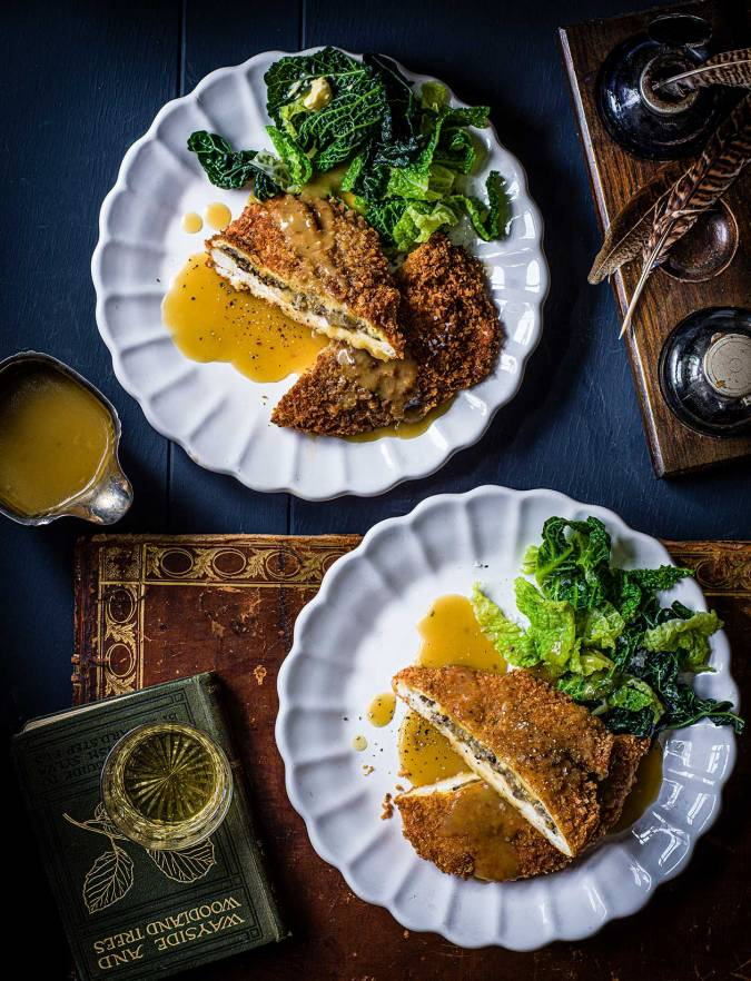 Recipe: Crispy chicken and haggis escalopes with whisky and chicken butter sauce