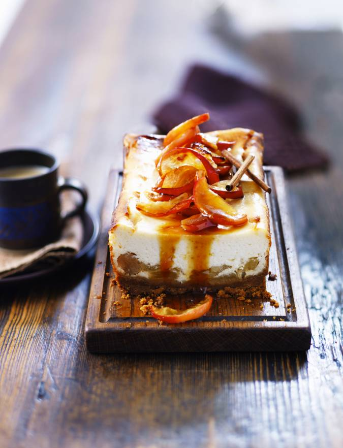 Recipe: Toffee apple cheesecake