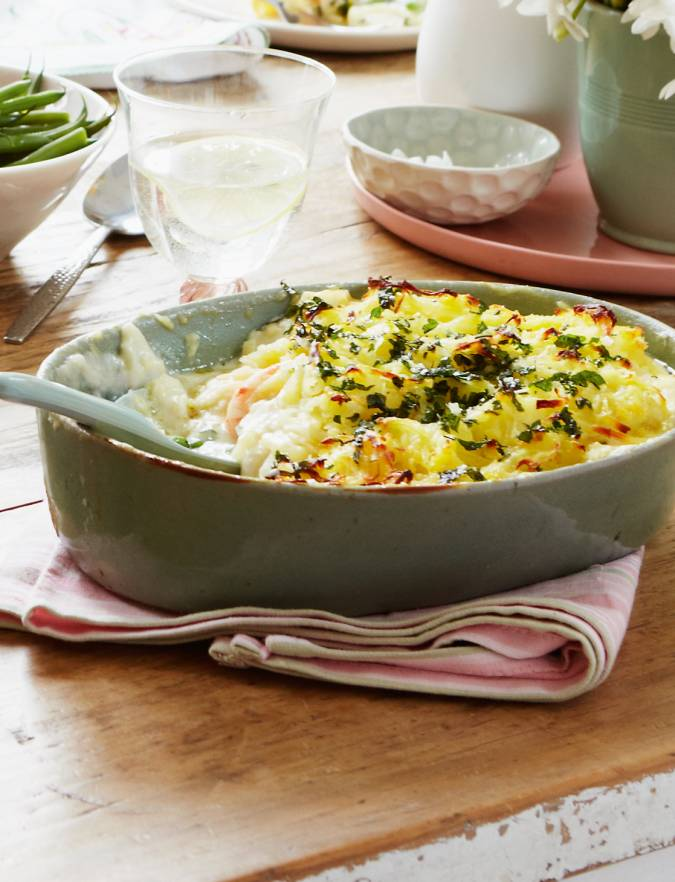 Recipe: Fish pie with parsley rosti topping