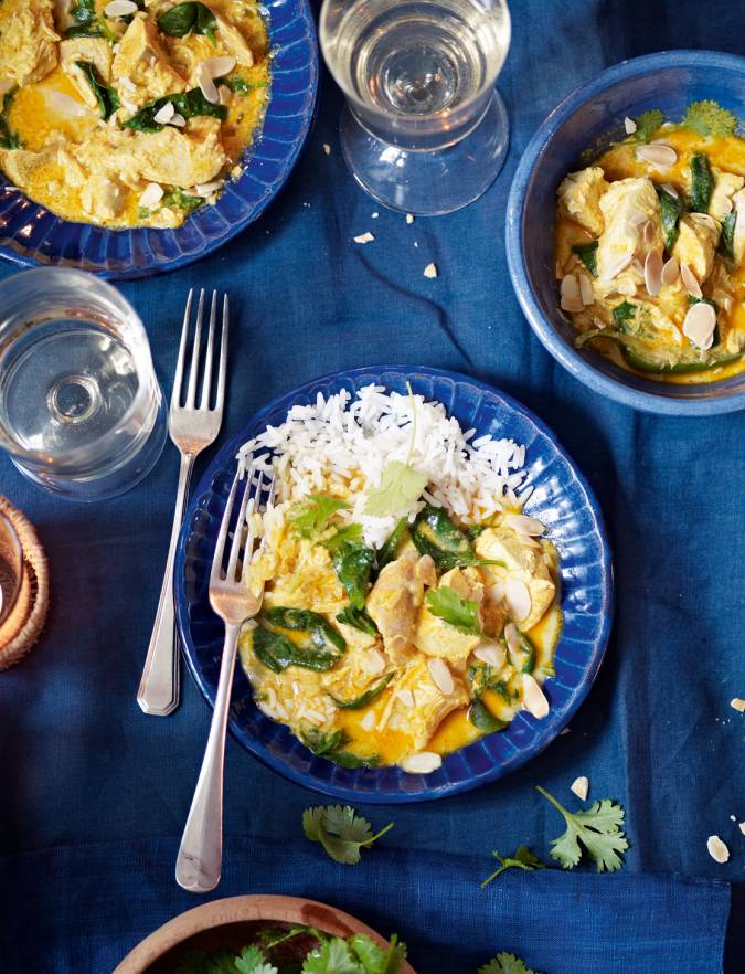 Recipe: Turkey and spinach curry