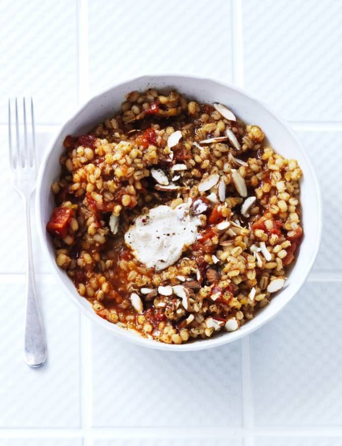 Recipe: Tomato and rosemary pearl barley risotto