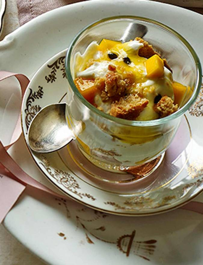 Recipe: Passion fruit pots with cookie crumbs